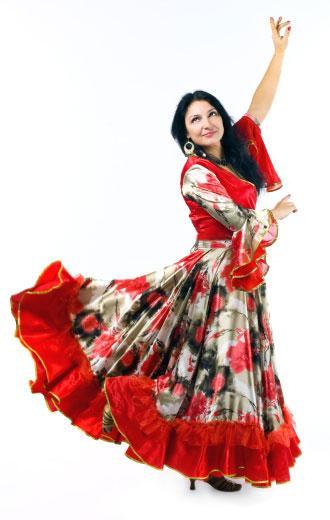 Pleated gypsy dress