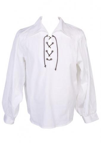 Long sleeved white poet shirt
