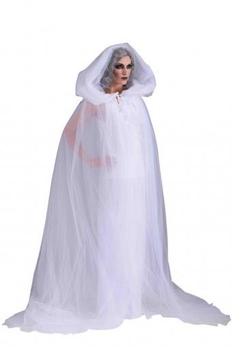 White hooded robe
