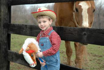 Little boy in cowboy costume