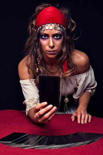 Fortune teller with tarot cards
