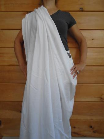 Sari-Style Bed Sheet Toga