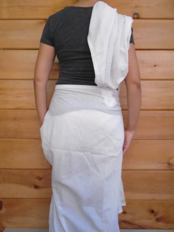 Sari-Style Toga Tuck the corner