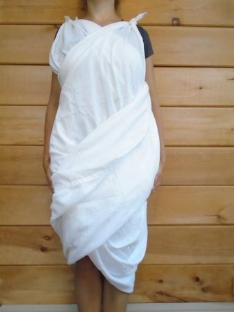 Finished Two-Strap Bed Sheet Toga