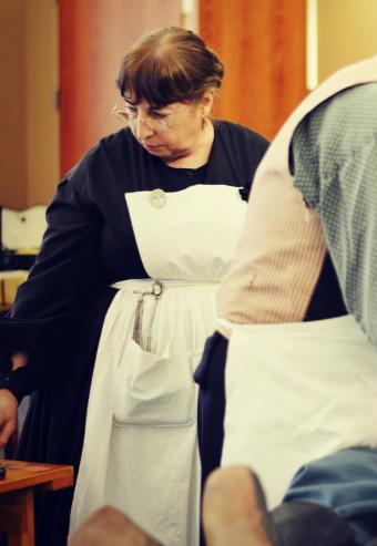 Nurse at Civil War reenactment