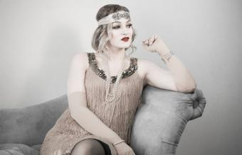 1920's style portrait of young woman