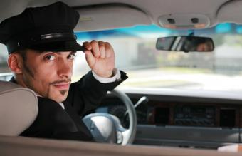 Handsome limo driver