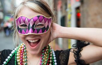 young woman at Mardi Gras