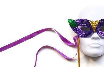Mardi Gras Mask on stick