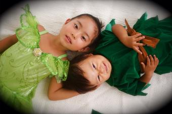 Two kids Perfect Peter Pan Costumes