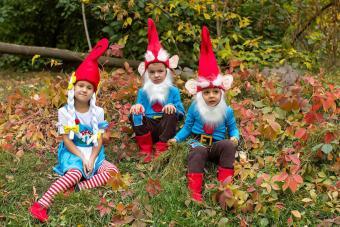 Garden gnome kids costume for halloween