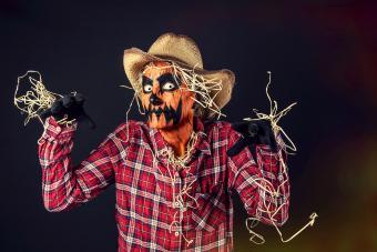Creepy Jack O'Lantern Scarecrow