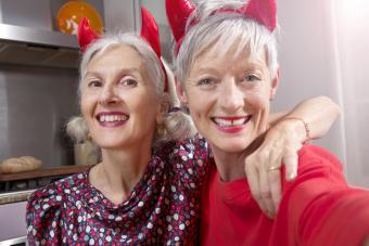 Women with devil horns
