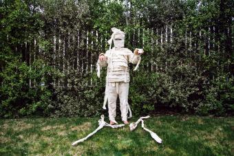 Home made Egyptian mummy costume
