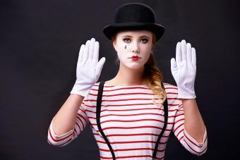 Female mime