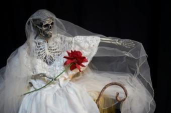 Barbara's bride costume from the Beetlejuice movie.