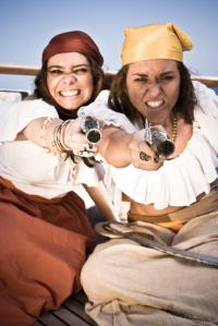 A pirate wench must have all the tools of the trade