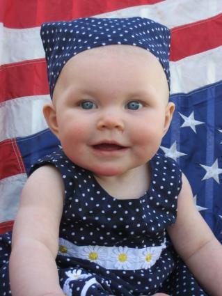 Patriotic baby