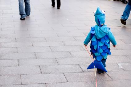 Boy in Fish Costume