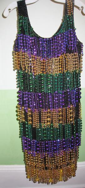 beaded Mardi Gras dress