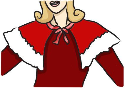 Mrs. Claus cape
