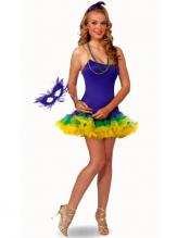 Mardi Gras Petticoat Dress from Costume Discounters
