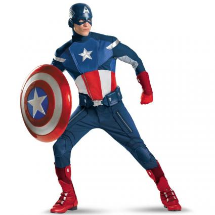The Avengers Captain America adult costume, Image provided by BuyCostumes.com