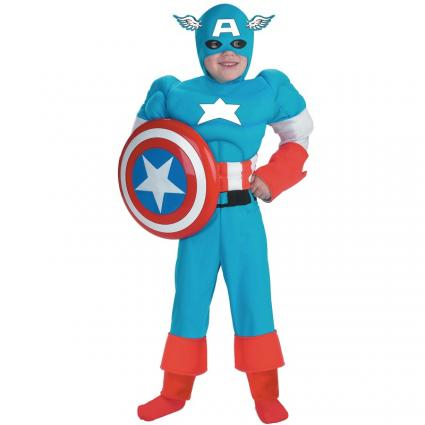 Kids' Muscle Chest Captain America Costume from BuyCostumes.com