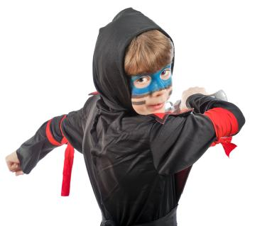 Child in a ninja costume