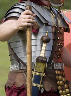 Roman soldier wearing a baldric