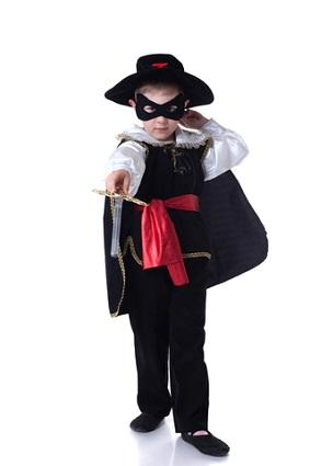 kid dressed as zorro