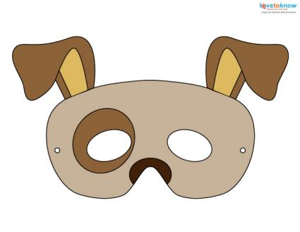 dog mask template for kids printable halloween masks lovetoknow