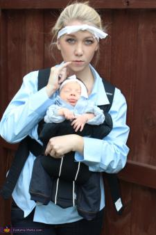 Dr. Evil and Mini Me infant costume
