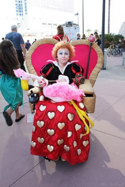 Queen of Hearts on Throne