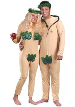 Adam and Eve Costume  sc 1 st  Costumes - LoveToKnow & Unique Couples Halloween Costumes