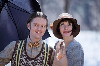 retro costumed couple
