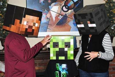Steve, Creeper, and Enderman Masks
