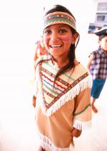 girl in Native American outfit