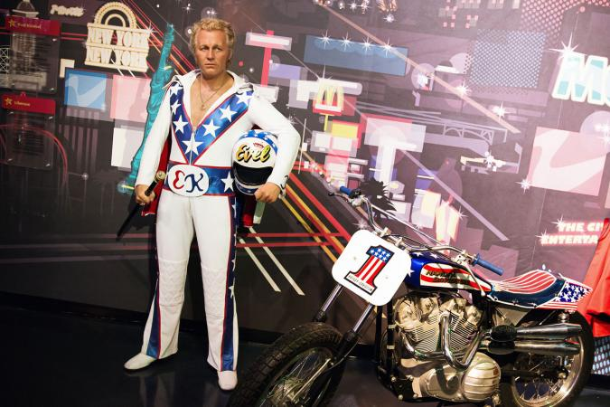 Evel Knievel in costume