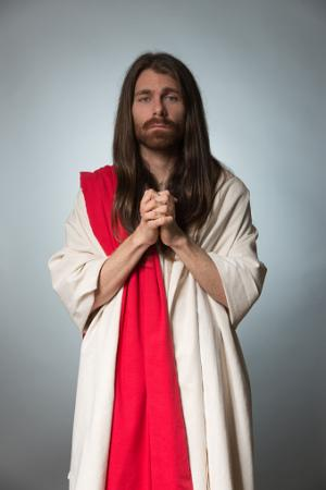 Man dressed like Jesus