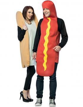 Hot Dog Bun Couples Costume