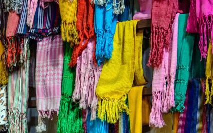 Mexican rebozos on display in Mexico City