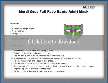 Full Face Mardi Gras Mask