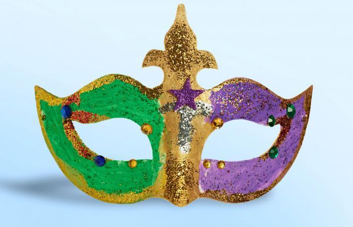 Handmade mardi gras mask