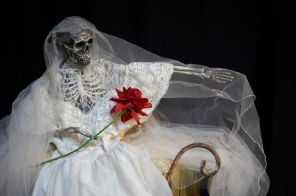 Barbara's bride costume from the Beetlejuice movie.