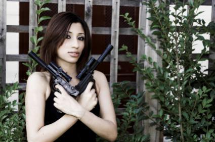 Pistol wielding girl.