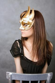 Adorn yourself in a festive mask!