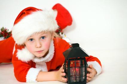 Kid in santa costume