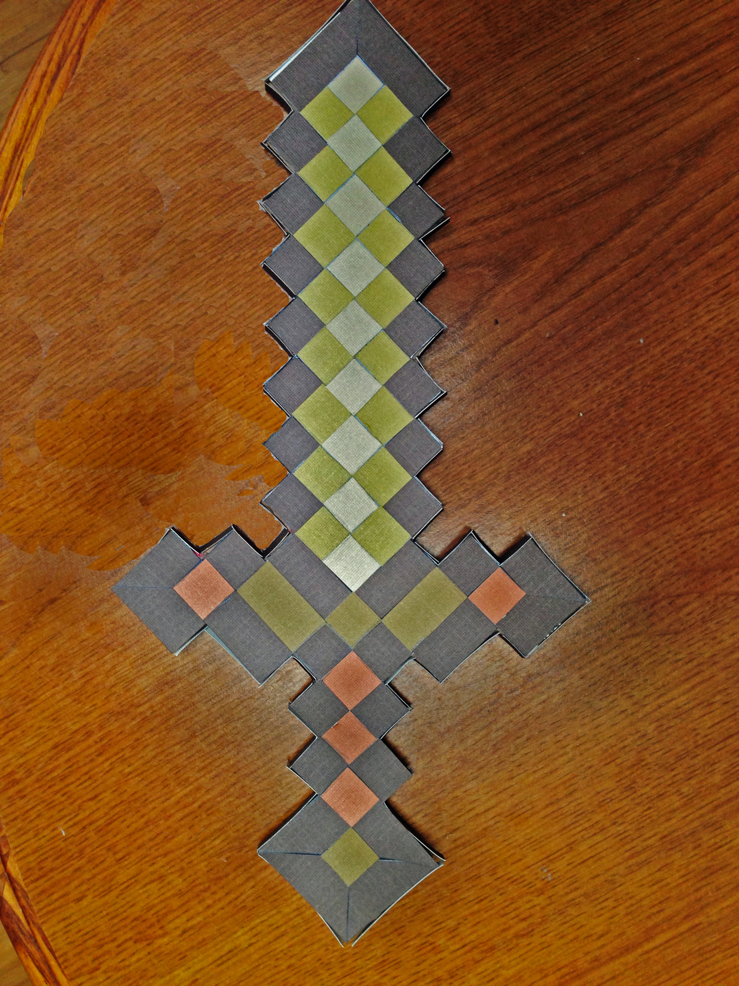 3 Minecraft Themed Paper Craft Projects Foldupsword Origami Sword Diagram
