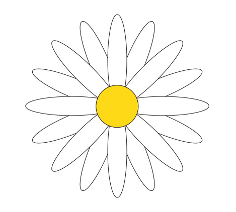 Daisy flower pattern cut out flowers ideas for Daisy cut out template